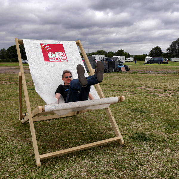 Alistair In The Logbook Deckchair