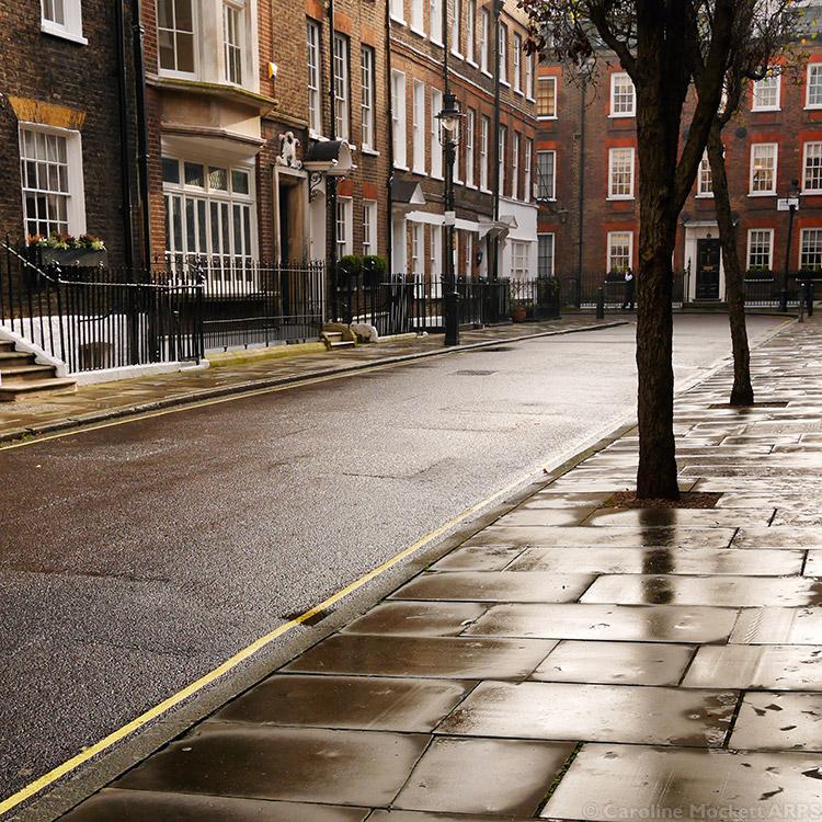 London Street After Rain