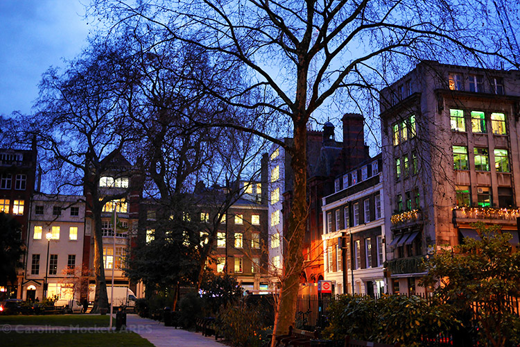 Soho Square At Dusk