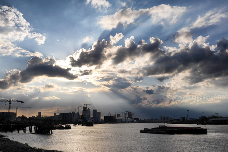 Crepuscular Clouds Over The O2