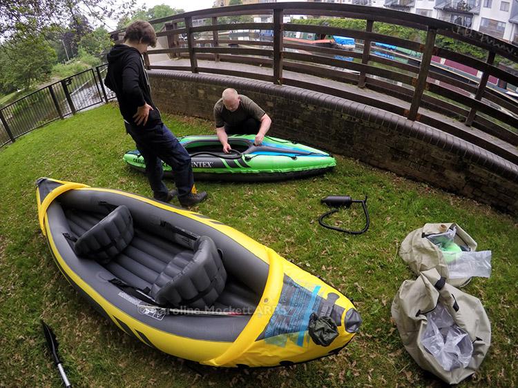 Inflating The Kayaks