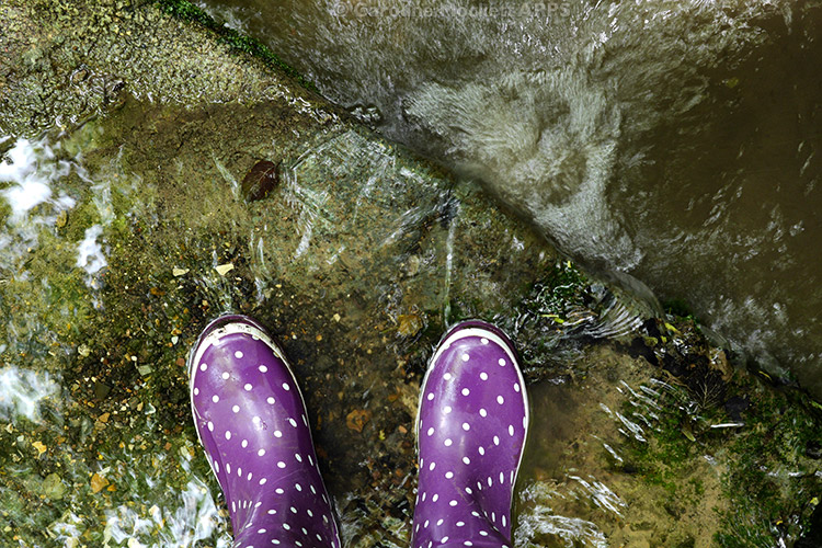 New Wellies At A Waterfall!