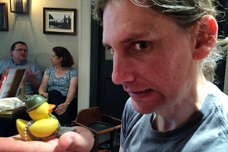 Alistair Meets Another Duck