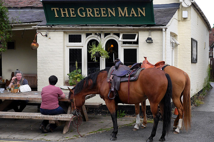 Horses At The Pub!