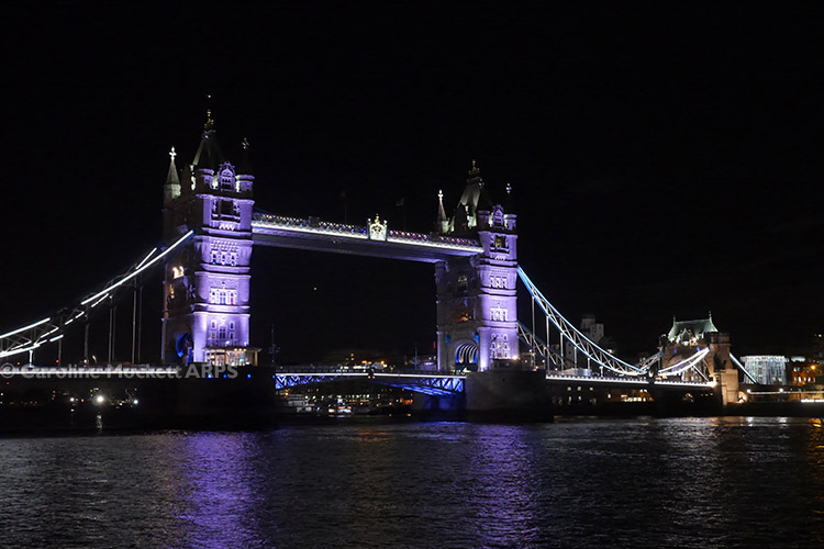 Tower Bridge Goes Purple!